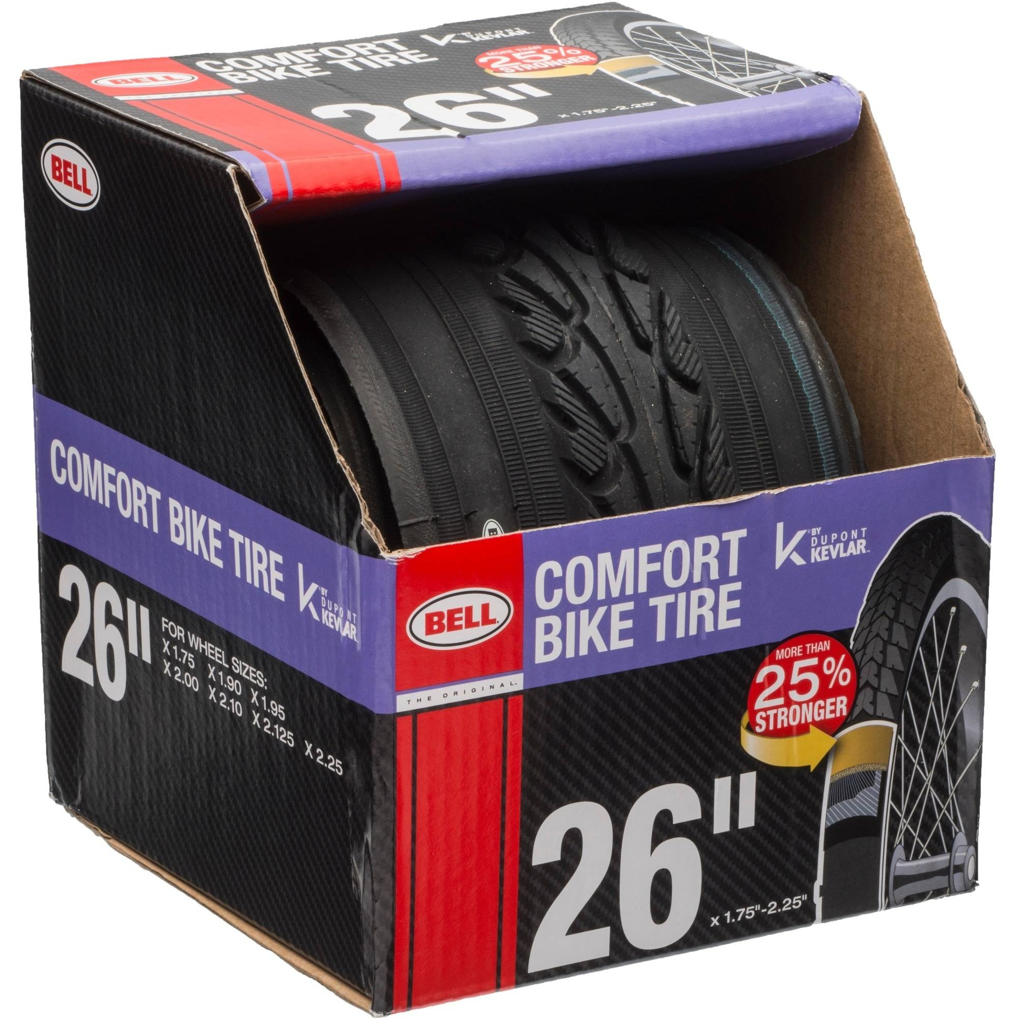 Bell Sports Comfort Glide Road Bike Tire With Kevlar 26 X 1 75