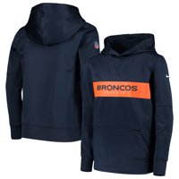 Product Image Denver Broncos Nike Youth Team Performance Pullover Hoodie -  Navy - Yth S 2cef6f95a