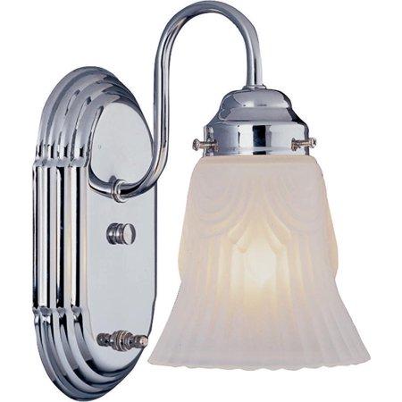 Boston Harbor Dimmable Vanity Light Fixture, (1) 60/13 W, Medium, A19/Cfl Lamp, Chrome 1 Light Vanity Lighting