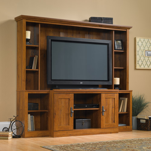 """Sauder Harvest Mill Home Theater for TVs up to 47"""", Abbey Oak Finish"""