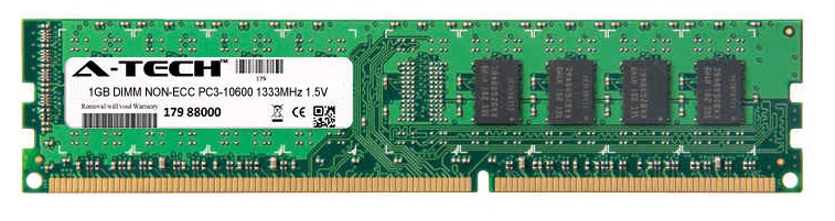 1GB Module PC3-10600 1333MHz 1.5V NON-ECC DDR3 DIMM Desktop 240-pin Memory Ram