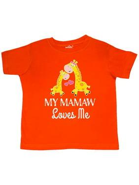 Mamaw Loves Me Childs Giraffe Toddler T-Shirt