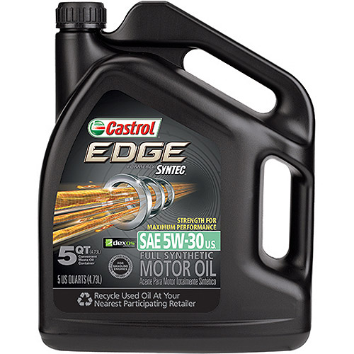 Castrol Edge Strength for Maximum Protection 5W-30 Motor Oil, 5 qt.