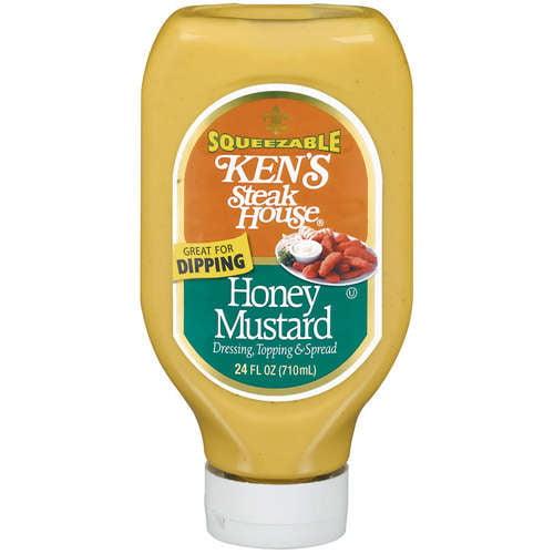 Kens Steak House Honey Mustard Dressing Topping & Spread, 24 oz
