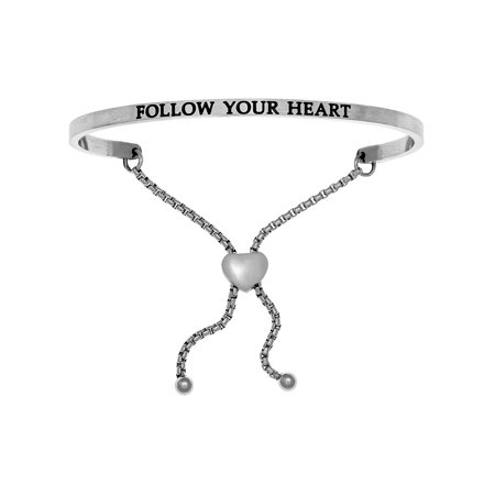 Intuition Stainless Steel follow Your Heart Adjustable Friendship Bracelet