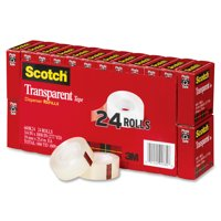 Scotch Transparent Tape Refills Office Value Pack, 24 Count, Clear