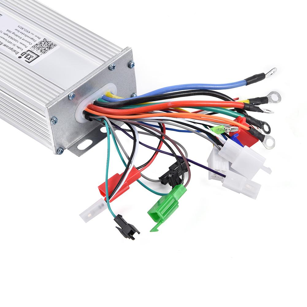 Zerone Electric Brushless Controller,Motor Controller,36V/48V 1000W  Brushless Motor Sine Wave Controller for Electric Bicycle Scooter