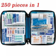 299pc First Aid Kit Bag All Purpose Emergency Survival Home Outdoor Medical Bag