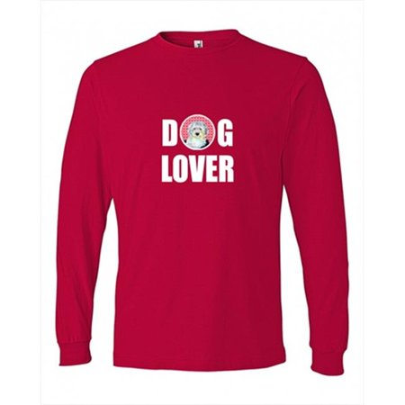 Carolines Treasures LH9171LS-REDU-XL Old English Sheepdog Love and Hearts Long Sleeve Red Unisex Adult Extra Large - image 1 de 1