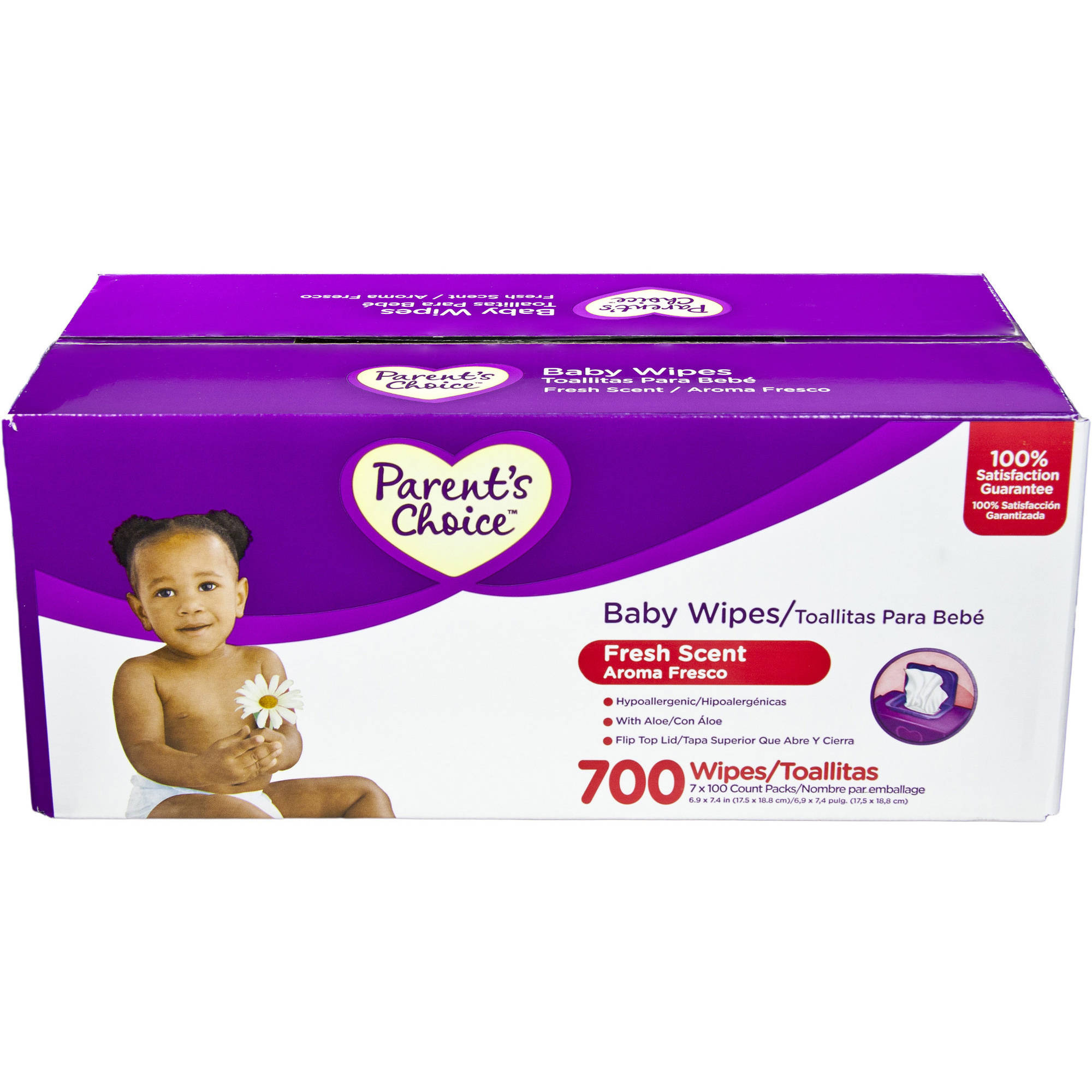 Parent's Choice - Fresh-Scent Baby Wipes, 100ct, 7pk