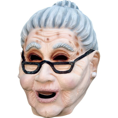 Grandma Latex Mask Adult Halloween Accessory - Halloween Latex Applications