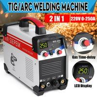 220V 7000W 2In1 TIG/ARC Welding Machine 250A MMA IGBT Inverter WS-250 Welder Kit/for stainless steel, alloy steel, carbon steel, cast iron