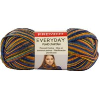 Premier Everyday Plaid Yarn - Navy Orange