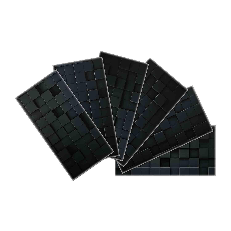 "3""x6""x2mm SkinnyTile Glass Skin Wall Tile, Set of 48 covering 6 sq.ft."
