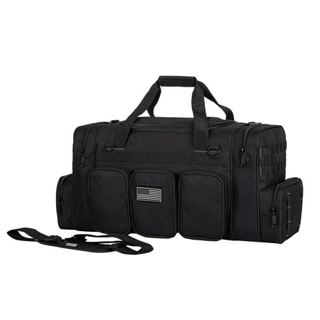 22 Inch K-Cliffs Tactical Duffel Bag Military Gun Range Travel Gym Bags Black thumbnail