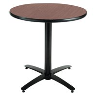 KFI 42in Multiple Colors Round Table with Arched X Base, Commercial Grade
