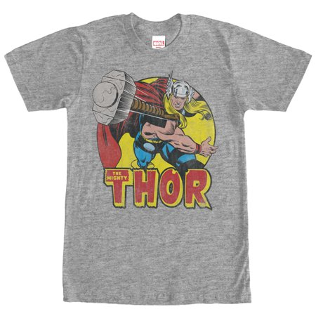 Marvel Men's Mighty Thor Hammer Throw T-Shirt (Thor Suits)