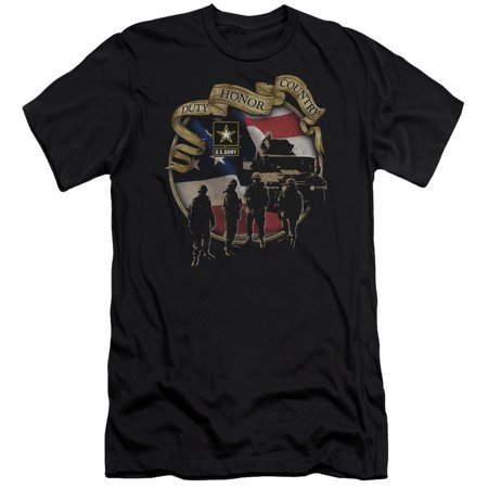 Little Army Men (Army Duty Honor Country Mens Premium Slim Fit)