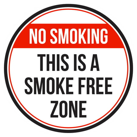 no smoking this is a smoke free zone red black and white business commercial safety