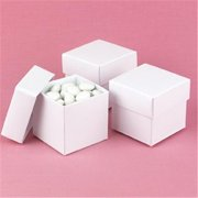 Hortense B Hewitt 90217P White Shimmer 2 piece Favor Boxes - Personalized