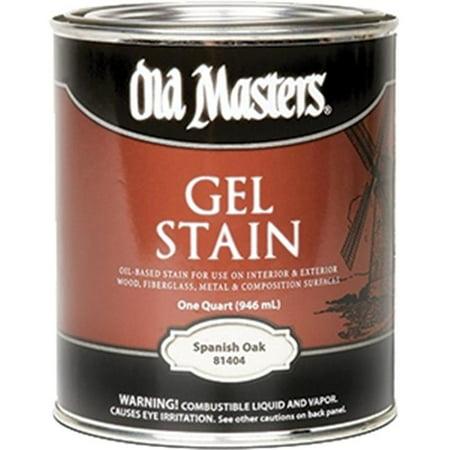 OLD MASTERS 81404 Spanish Oak Gel Stain - 1 Quart Blue Acid Stain
