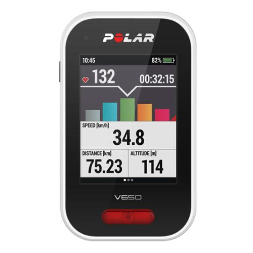 Polar V650 GPS Cycling Computer With Bluetooth Heart Rate Monitor - 90050534