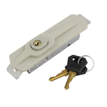 Unique Bargains 105mmx28mm Metal Plastic Shoe Cabinet Lock w 2 Keys House Accessory