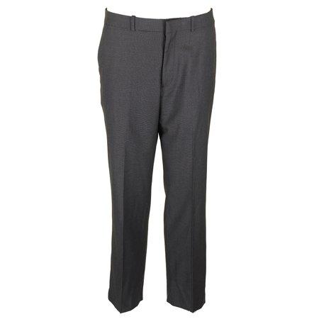 Perry Ellis Mens Dark Grey Classic Fit Creased Dress Pants 34