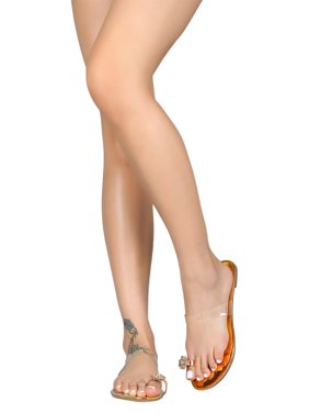37492a23aa5e9 Product Image Women Patent Hologram Gemstone Toe Ring Slip On Flat Sandal  18354
