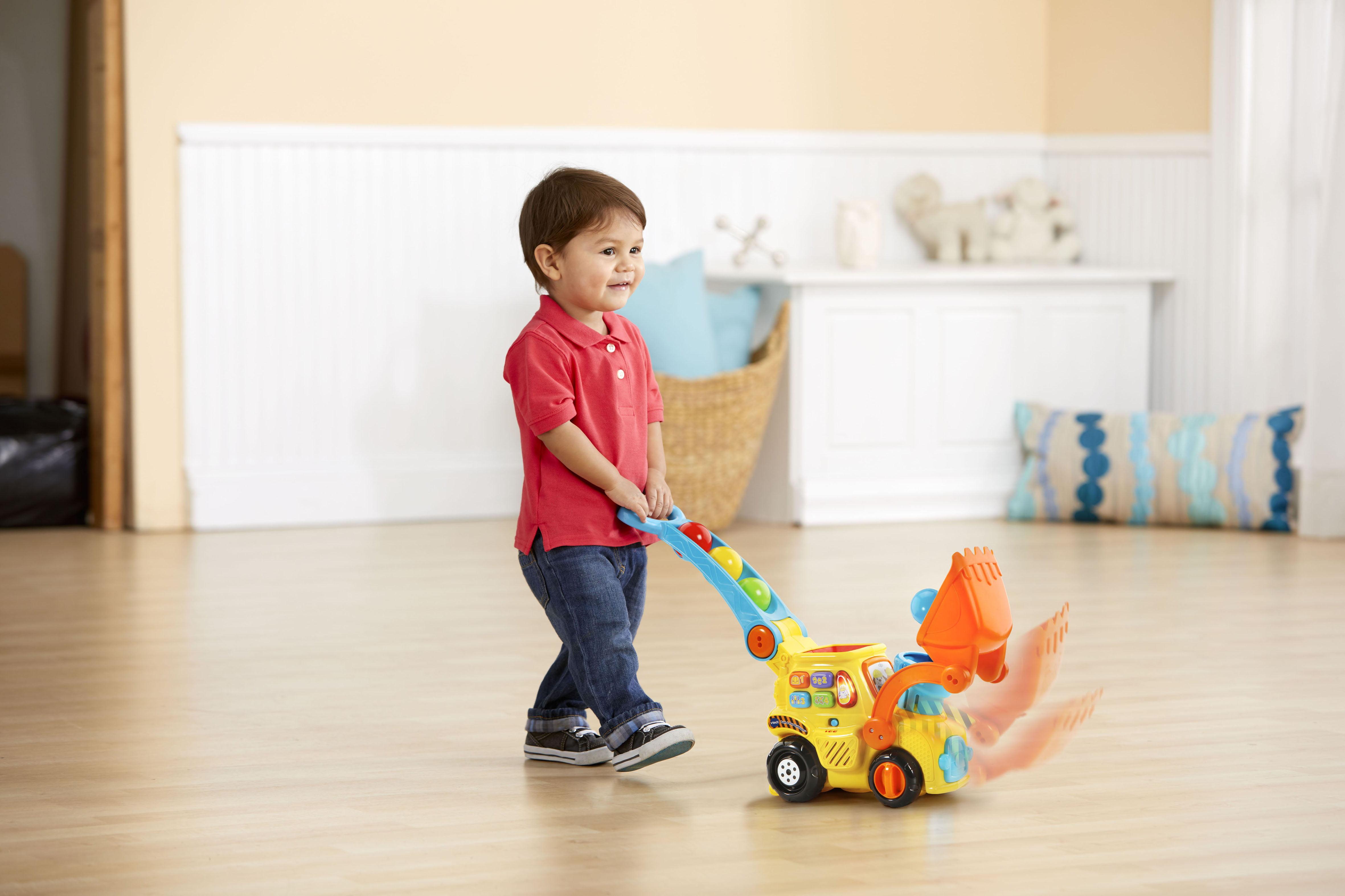 Push Toys For Toddlers : Vtech pop a balls™ push pop bulldozer™ walmart