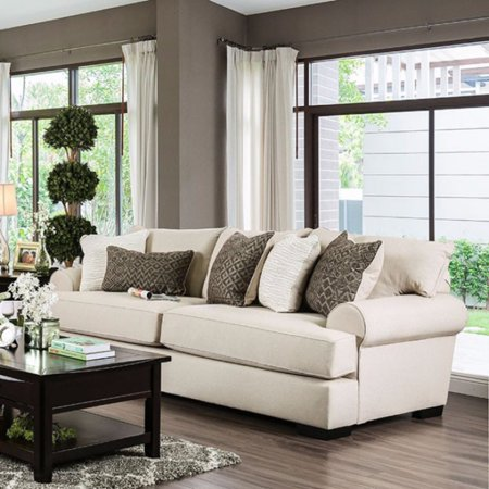 Gilda Transitional Style Sofa In Beige