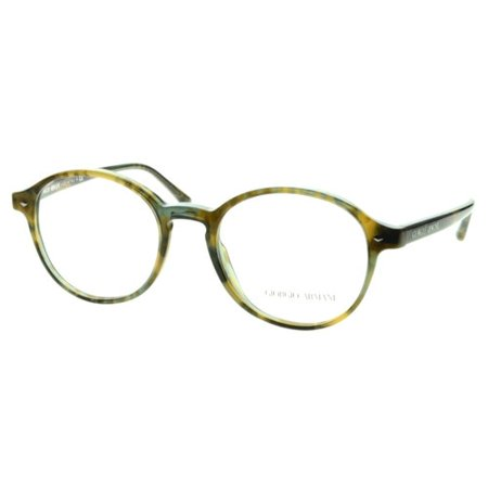 Giorgio Armani AR7004 5192 Green Havana Full Rim Round Eyeglasses Frames Giorgio Armani Frames