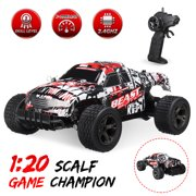 2.4GHz 1:20 Remote Control Car High Speed RC Electric Monster Truck OffRoad Vehicle For Children Kids Boys Birthday Gift (with Car Battery/Charger/Screwdriver)