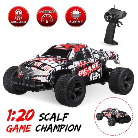 2.4GHz 1:20 Remote Control Car High Speed RC Electric Monster Truck OffRoad Vehicle For Children Kids Boys Toys Christmas Gift ()