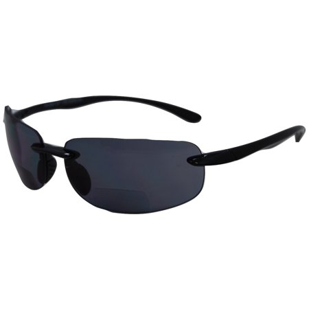 3439f2b475 In Style Eyes Lovin Maui Wrap Around Non-Polarized Version Nearly Invisible  Line Bifocal Sunglasses - Walmart.com