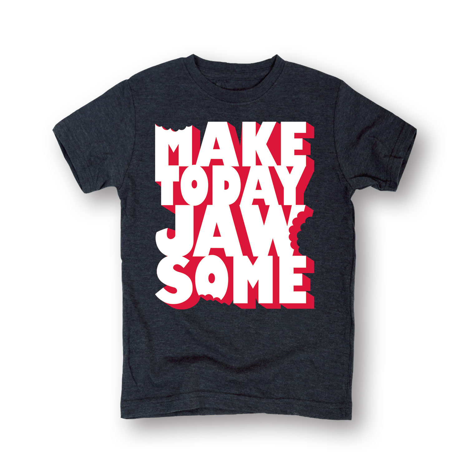 Make Today Jawsome' 3D Print T-Shirt With Bite Marks-Toddler T-Shirt
