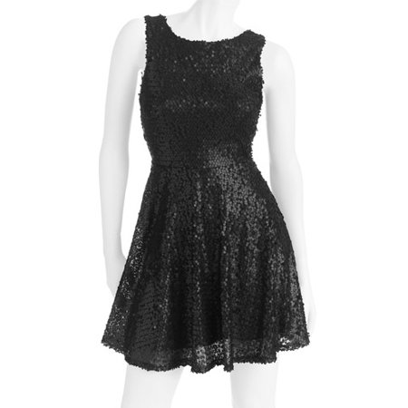 Juniors Sequin Skater Dress Walmart