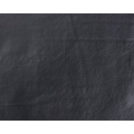 Faux Leather / Vinyl / Buffalo / Black / 10 Yard Pre-Cut (Black Faux Leather)