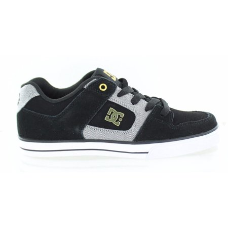 Dc Pure Youth Shoes (DC Youth Pure XE Skate Shoe Black Gold Little Kid Size 12 M US )