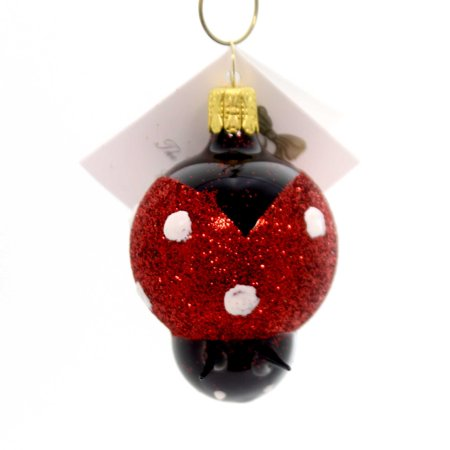 Golden Bell Collection SMALL LADYBUG Glass Ornament Czech Republic Bug An741 for $<!---->
