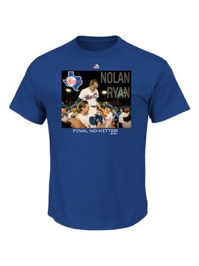 Nolan Ryan Texas Rangers Majestic Cooperstown Genuine Player T-Shirt - Royal