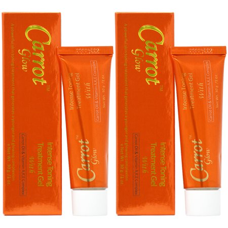 Tightening Toning Treatment Gel (Carrot Glow Intense Toning Treatment Gel 1oz (Pack of 2) )
