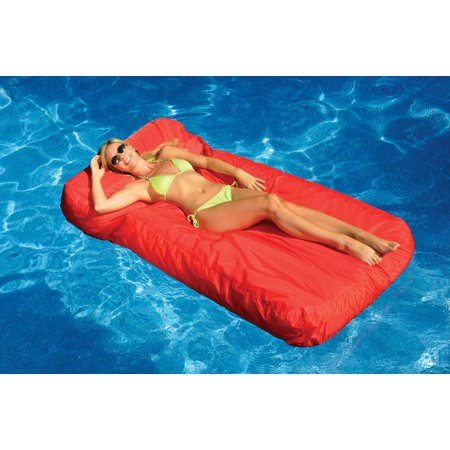 - Swimline Solstice 15030R SunSoft Swimming Pool Inflatable Fabric Lounger Red