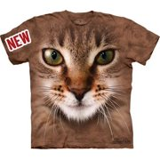 Striped Cat Face Adult T-Shirt 10-3350