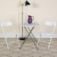 Flash Furniture (10-Pack) HERCULES Series Premium Plastic Folding Chair, White