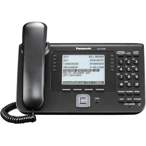Panasonic KX-UT248-B IP Phone - Cable - Wall Mountable - 1 x Total Line - VoIP - Speakerphone - 2 x Network (RJ-45) - PoE Ports