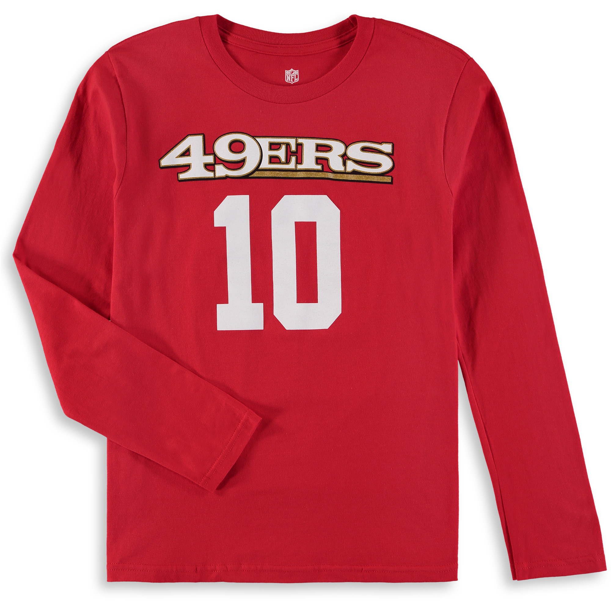 new product ce541 bee54 Jimmy Garoppolo San Francisco 49ers Youth Mainliner Name & Number Long  Sleeve T-Shirt - Scarlet