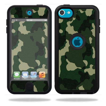 (Mightyskins Protective Vinyl Skin Decal Cover for OtterBox Defender Apple iPod Touch 5G 5th Generation Case Green Camo)
