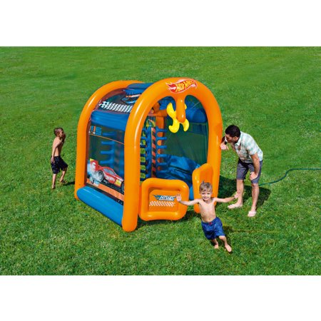 hot wheels inflatable car wash play center. Black Bedroom Furniture Sets. Home Design Ideas