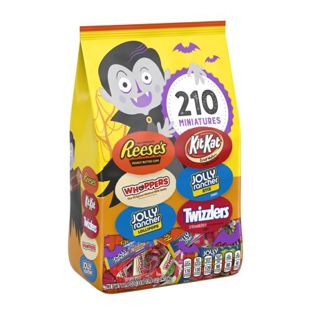 Hershey, Halloween Candy, Miniatures Assortment, 60.8 Oz, 210 Ct - Reese Pieces Halloween Size